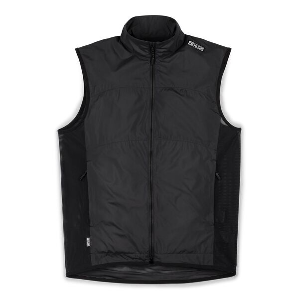DKLEIN Zip Wind Vest in Black - medium view.
