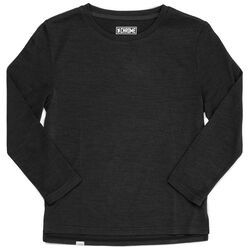 Women's Merino Square Long Sleeve Tee in Black - hi-res view.