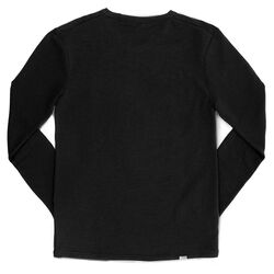 Merino Long Sleeve Tee in Black - hi-res view.
