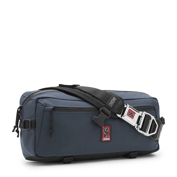 Kadet Nylon Messenger Bag in Indigo - medium view.