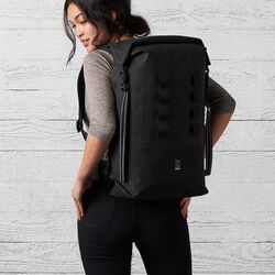 Urban Ex Rolltop 28L Backpack in Black - large view.