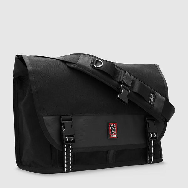 Conway Messenger Bag in Black - medium view.