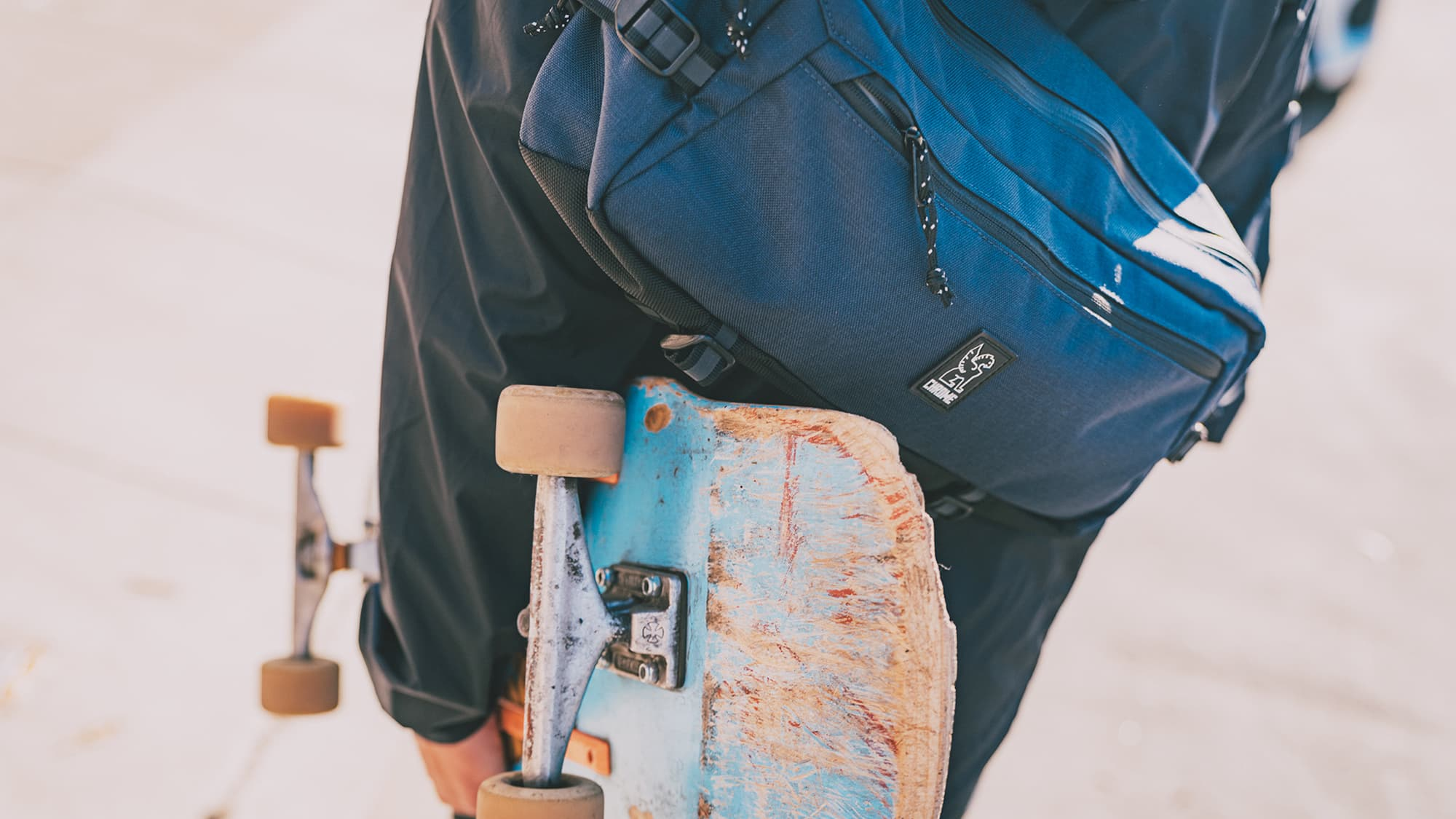 skateboarding with the Kadet sling