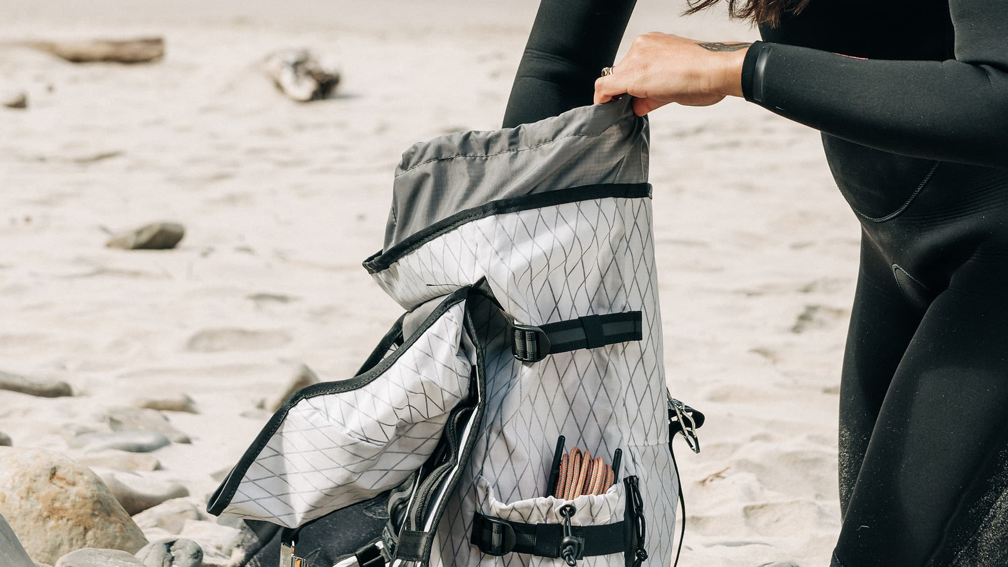 cool pass through pocket of the Tensile Ruckpack