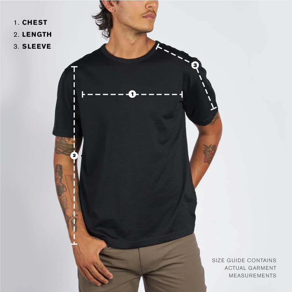 men's clothing tops Size Guide image