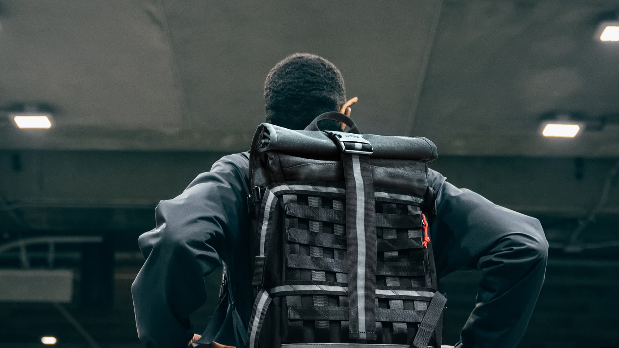 barrage cargo backpack in night