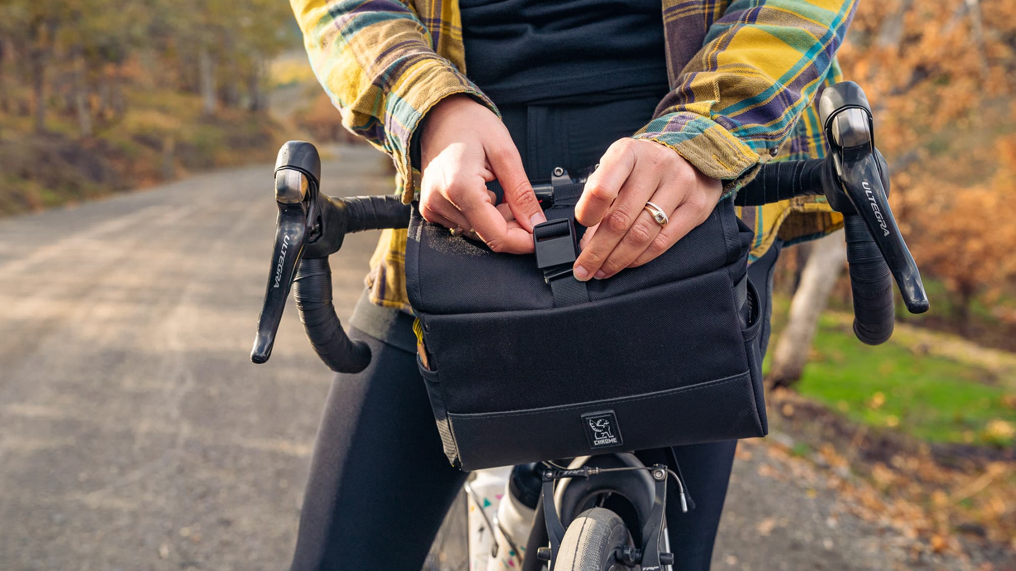 doubletrack handlebar bag goes everywhere