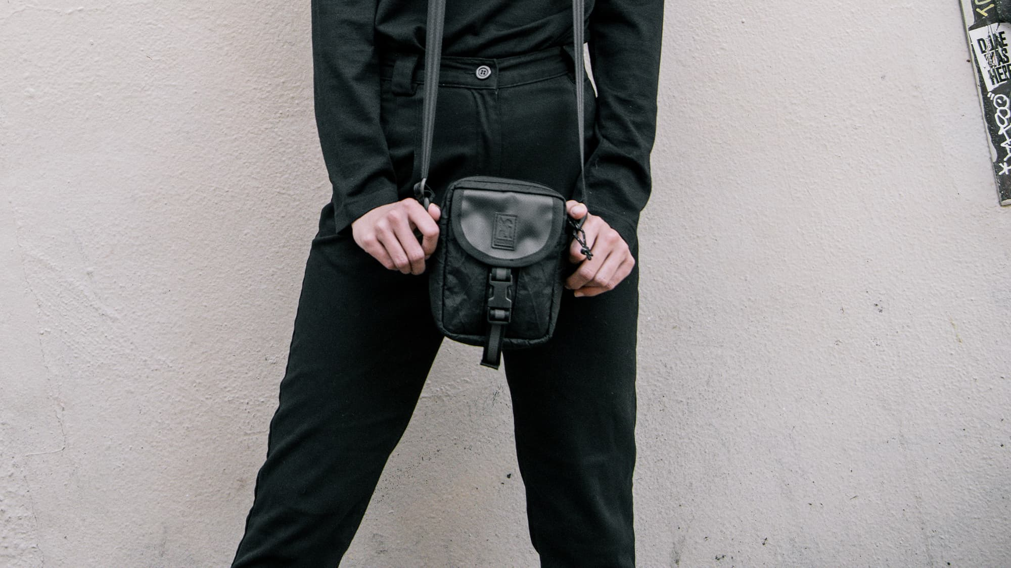 Shoulder Pouch out on a walk